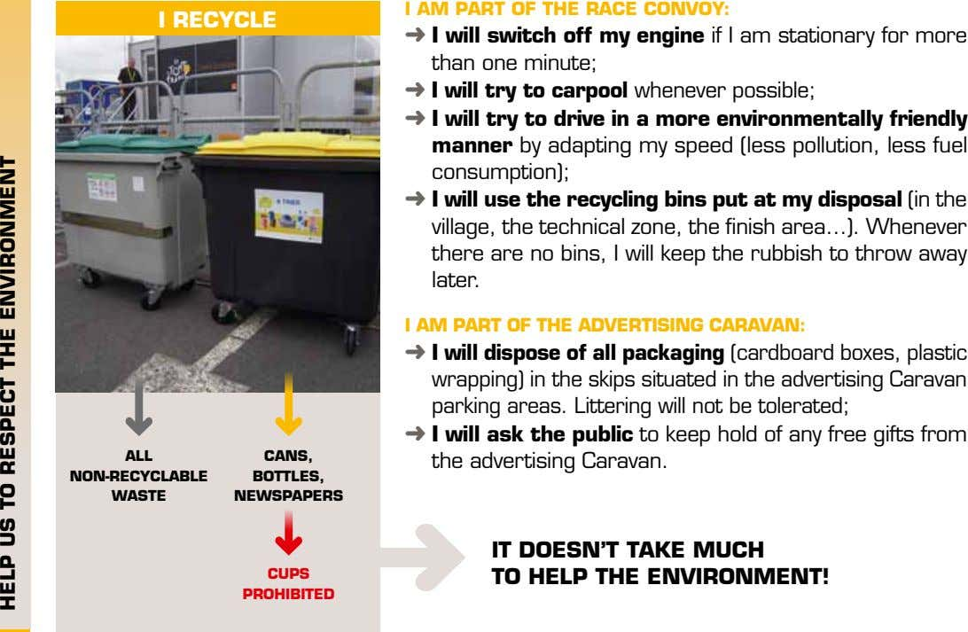 I AM PART OF THE RACE CONVOY: I RECYCLE I will switch off my engine