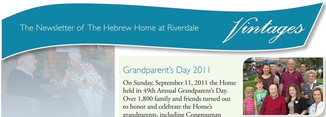 The Newsletter of The Hebrew Home at Riverdale intages Former Governor David PatersonVisits the Home