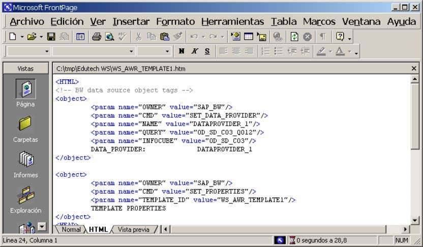 el 'Notepad' de Windows. Se utiliza el editor registrado como editor por defecto para editar HTML.