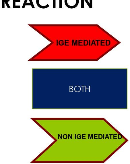 IGE MEDIATED BOTH NON IGE MEDIATED