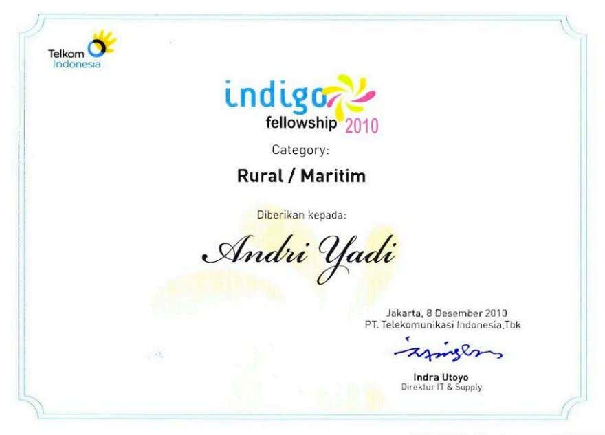 innitiative from Telkom Indonesia for local creative industry. Our product, PORTMAP, won Rural and Maritime category.