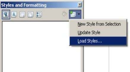 F11 → Klik New Style from Selection → Load Styles 2. Klik From File 3. Pilih