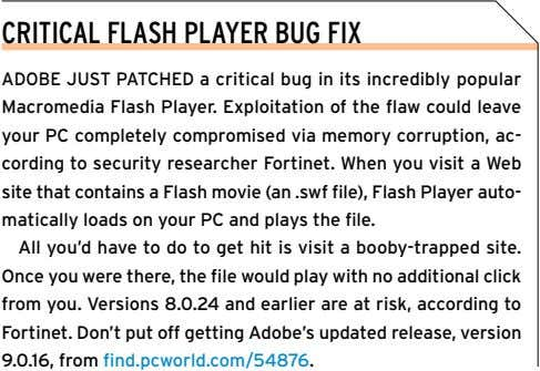 CRITICAL FLASH PLAYER BUG FIX ADOBE JUST PATCHED a critical bug in its incredibly popular