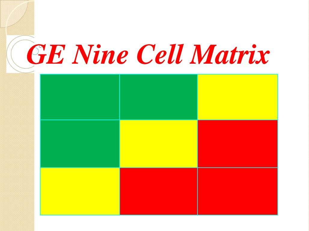 GEGE NineNine CellCell MatrixMatrix