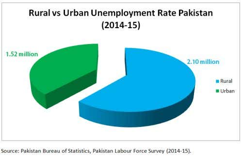0.13 million KPK: 0.51 million Source: Pakistan Labour Force Survey (2014-15). Pakistan Bureau of Statistics.