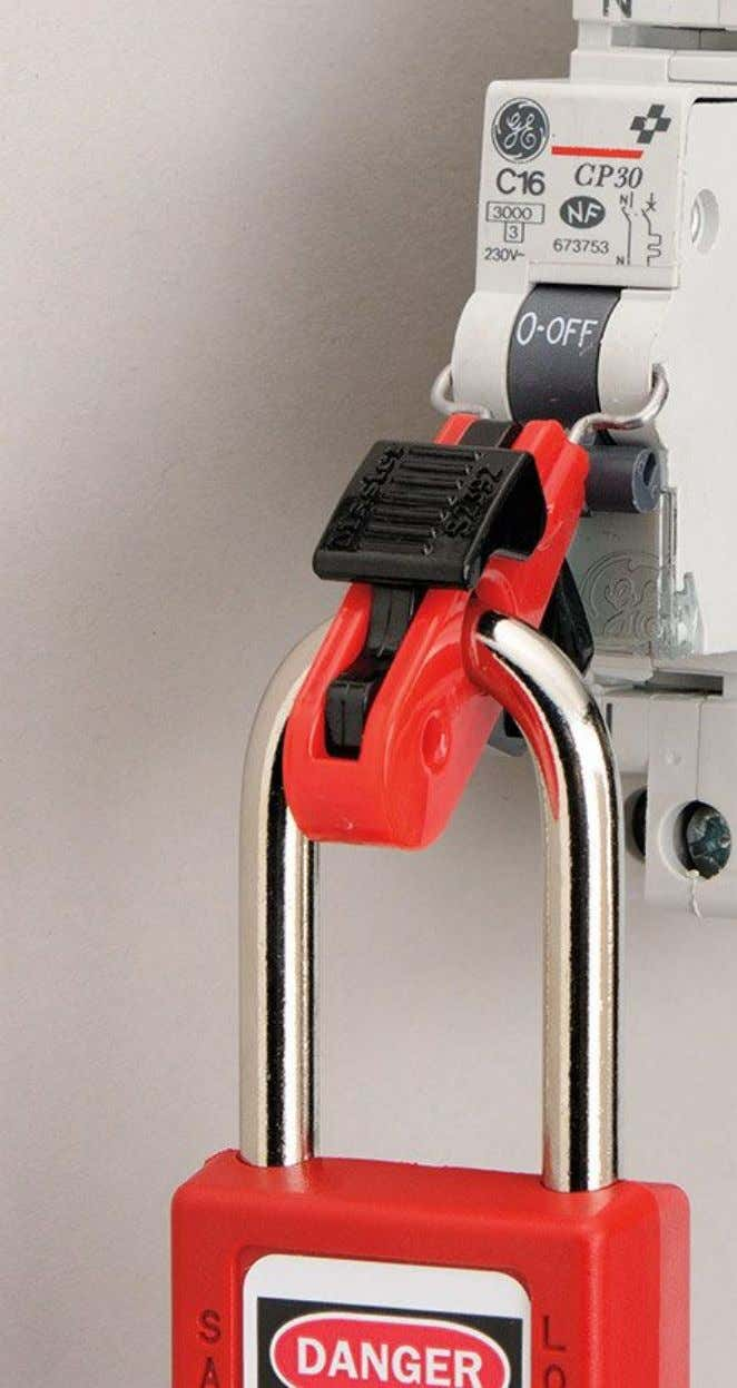 This is carried out by mechanical means using padlocks or locks . It prevents any intentional