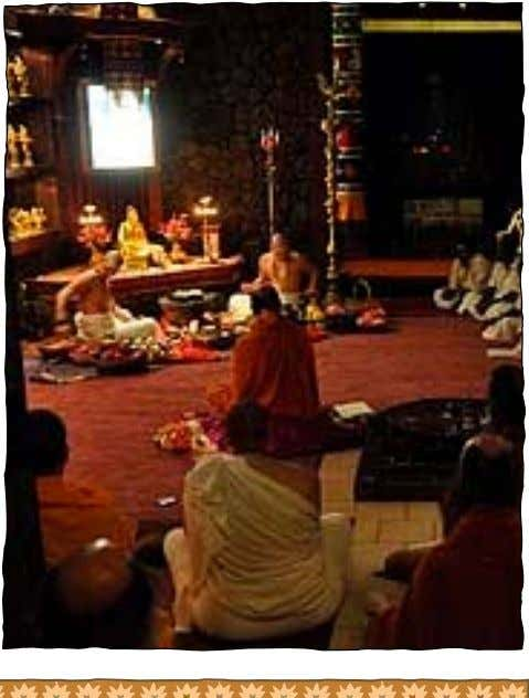 are partaken of as prasada by the devotees. Sri paduka refers to the sandals of the