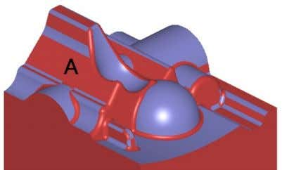 suggested surface is marked with A in the following image. 5. While holding N down, click