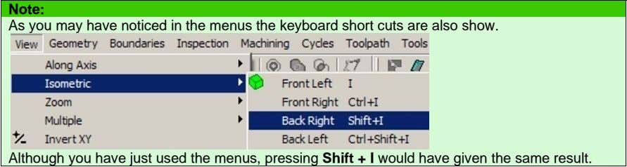 Note: As you may have noticed in the menus the keyboard short cuts are also