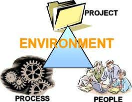PROJECT PROJECT ENVIRONMENT ENVIRONMENT PROCESS PROCESS PEOPLE PEOPLE