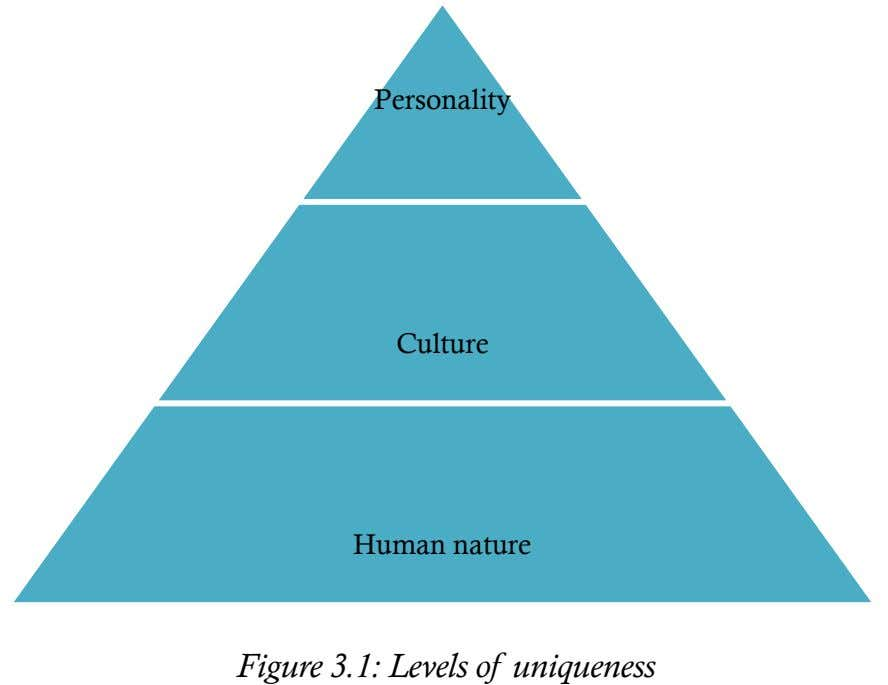 Personality Culture Human nature Figure 3.1: Levels of uniqueness