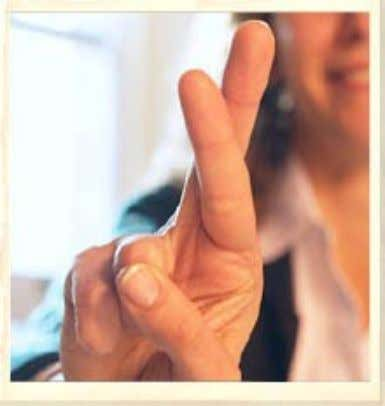 V-gesture: With the palm facing forward this gesture is seen as positive and meaning victory.
