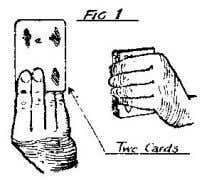 held in the left hand when the card instantaneously changes. EXPLANATION. The card held in the