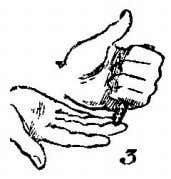 hand and, with the middle finger of the right hand, push the cigar into the left