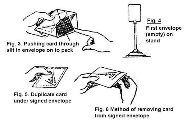 which causes the duplicate card to rise behind the envelope. Now the first envelope is set