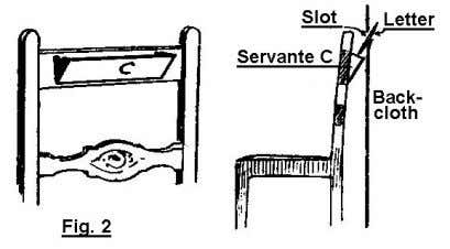 servante on the chair. The servante should resemble an oblong portfolio; it can be made out
