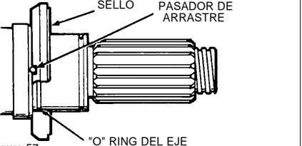 "SELLO PASADOR DE ARRASTRE ""O"" RING DEL EJE"