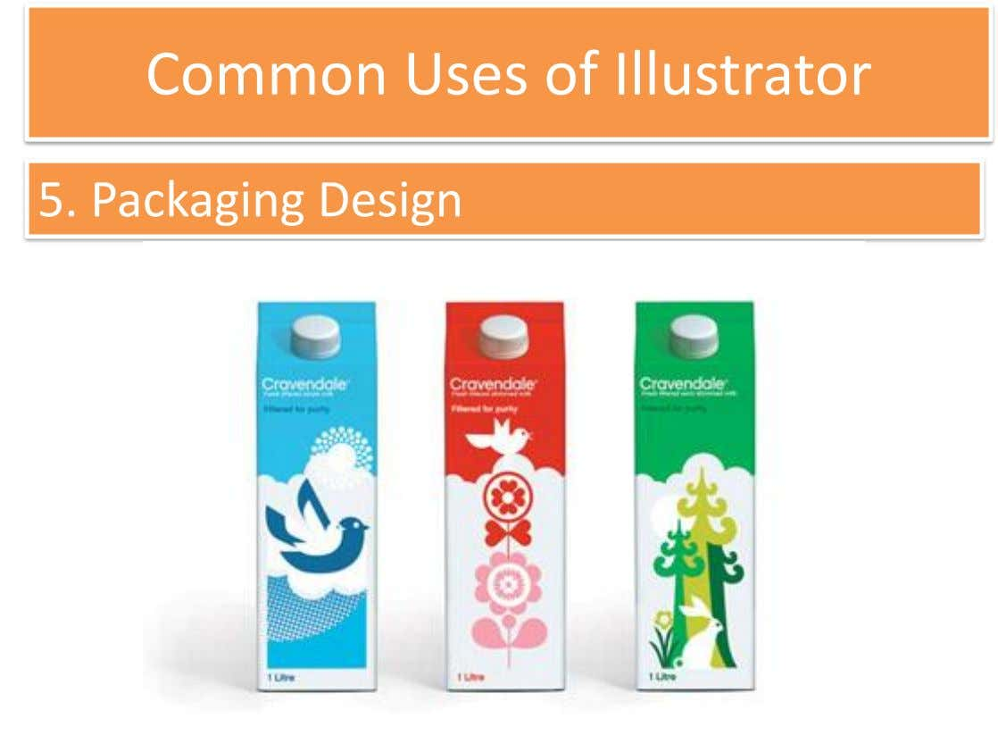 Common Uses of Illustrator 5. Packaging Design