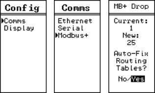 PLC at MB+ drop 1. The MEBII is configured to be at node 25. Figure 6: