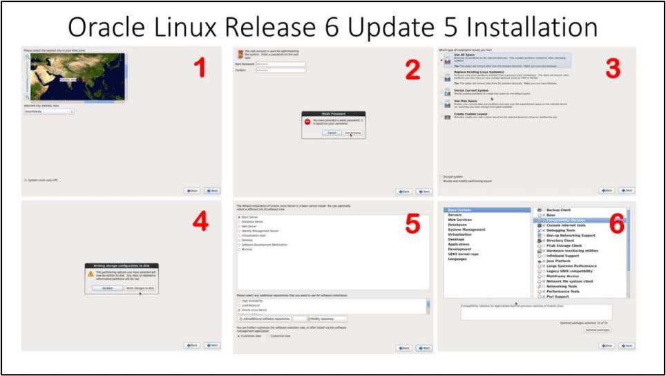 Oracle Linux Release 6 Update 5 Installation 1. Choose appropriate time zone from the map