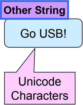 Other String Go USB! Unicode Characters