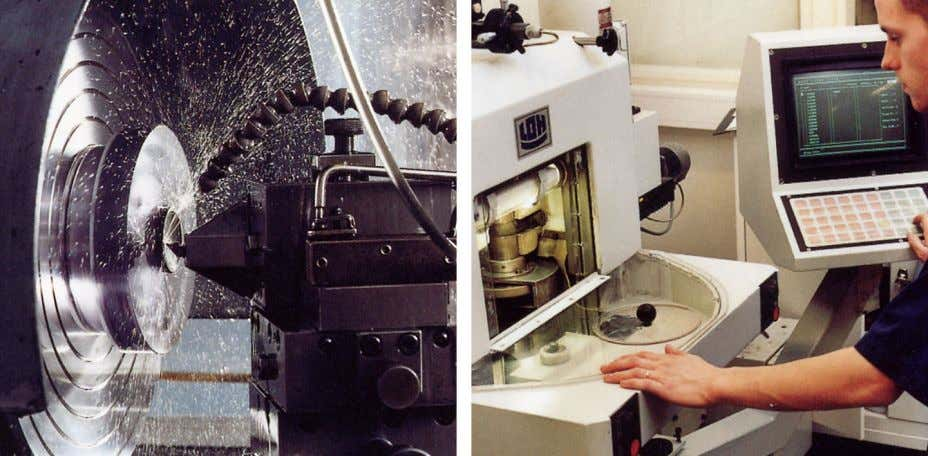 1.4 – Comments & questions 1 10401403;1 Figure 1.4 10401503;1 LEFT: Diamond turning machine; RIGHT: Lens