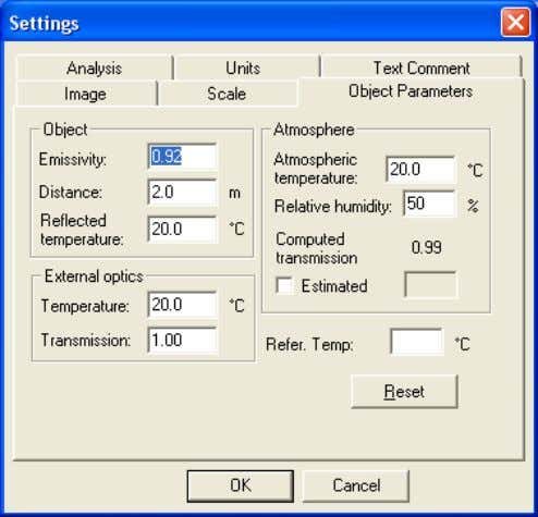 – The measurement formula on page 97 105 115 4 10426803;2 Figure 4.11 Settings dialog box