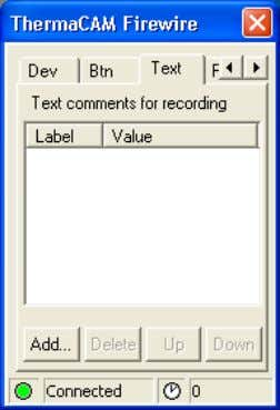 back images 4.5.5 Recording with text comments 10431303;1 4 Figure 4.21 Recording conditions dialog box You