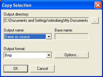 Recording menu. This dialog box will appear: 10427203;1 Figure 4.34 Copy selection dialog box Set the