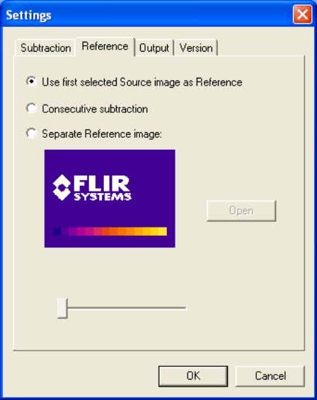 4.7 – How to edit/convert sequences 10422603;1 Figure 4.38 Reference tab of Settings dialog box 4