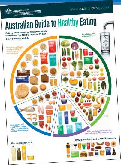 Australian Guide to Healthy Eating Enjoy a wide variety of nutritious foods from these five