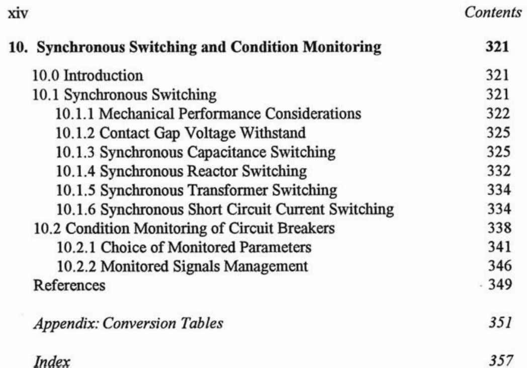 Introduction Synchronous Switching Mechanical Performance Considerations Contact Gap Voltage Withstand Synchronous