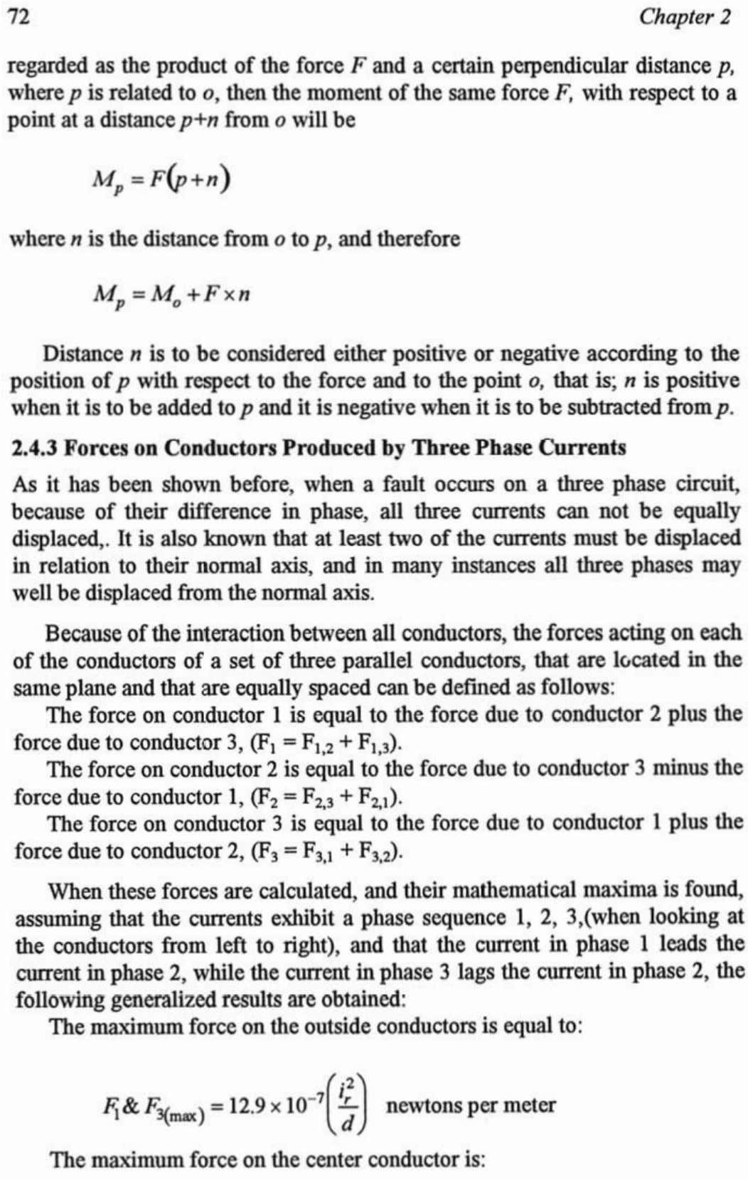 where p is related to point at a distancep+n from will be where n is