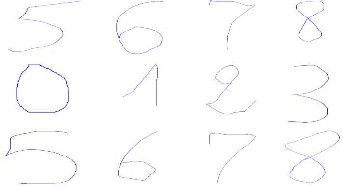 interface of a certain software used in this recognition. Fig 2: Example of cursive handwritten Arabic