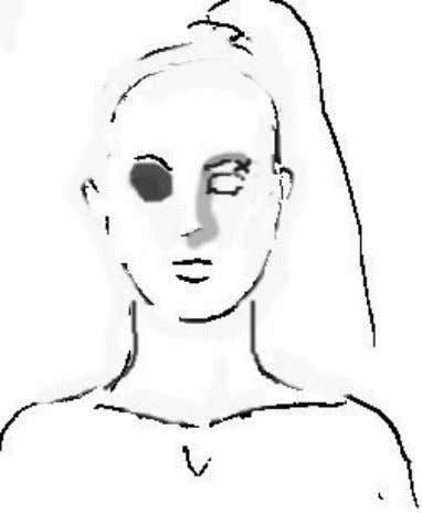 No it's not the Frankenstein's bride wearing an eye patch, even thou it kind of