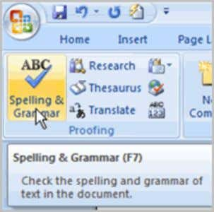 Worried about making mistakes when you type? Don't be. Word provides you with several proofing