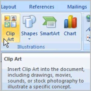 any text you wish into the text box. Inserting Clip Art You may want to insert