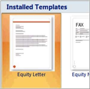Using a Template A template is a pre-designed document that you can use to create new