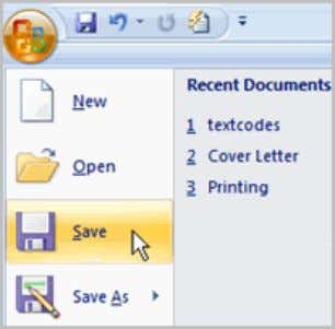 Saving Documents it is important to know how to save the documents you are working with.