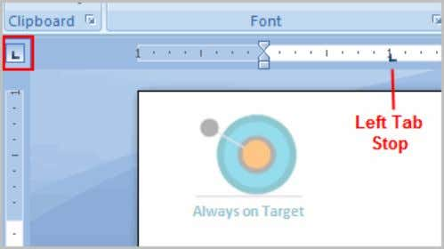  Press the Tab key to reach the tab stop. To Use Find and Replace