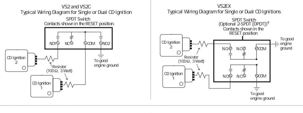 VS2 and VS2C Typical Wiring Diagram for Single or Dual CD Ignition VS2EX Typical Wiring