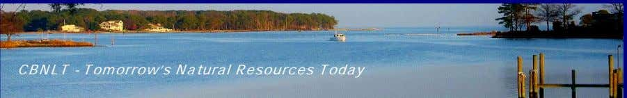 CBNLT - Tomorrow's Natural Resources Today
