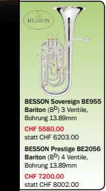 BESSON Sovereign BE955 Bariton (B b ) 3 Ventile, Bohrung 13.89mm CHF 5580.00 statt CHF