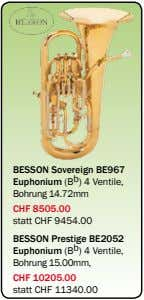 BESSON Sovereign BE967 Euphonium (B b ) 4 Ventile, Bohrung 14.72mm CHF 8505.00 statt CHF