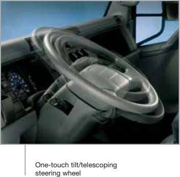 One-touch tilt/telescoping steering wheel