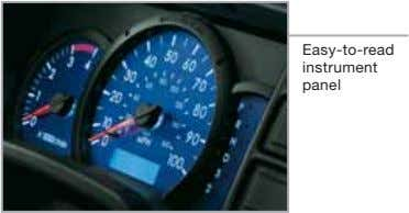 Easy-to-read instrument panel