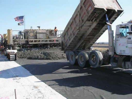 nonwoven geotextile fabric to existing concrete pavement Figure 7. Paving on top of nonwoven geotextile materials
