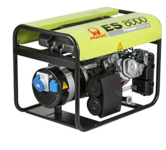 a long lasting professional power supply. Optional PETROL Big fuel integrated tank (11L) for an increased