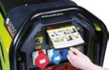 the generator Very compact design, easy to move and store Practical and user-friendly Instruction Guide Metal