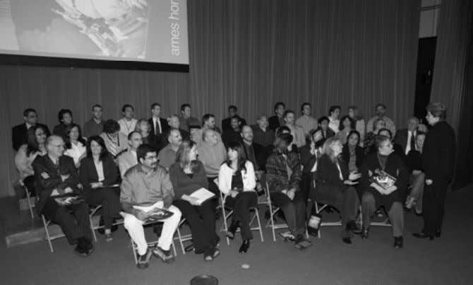 NASA photo by Dominic Hart NASA Ames Honor Award recipients in the N201 auditoriumduring the
